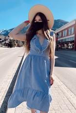 Molly Bracken Molly Bracken Dress Kelly Hi-Low Midi w/ Ruffle Detail