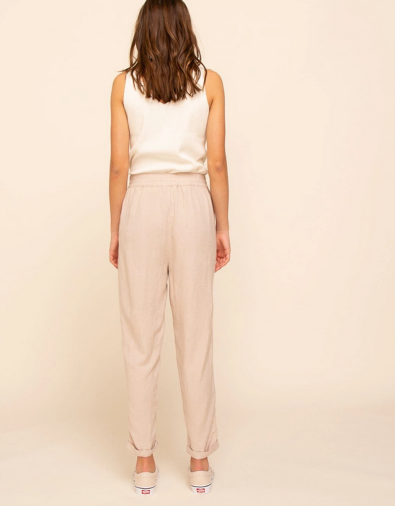 Thread and Supply CABIN Eliza Linen Blend Straight Leg Trousers