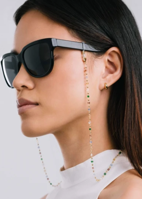 Lovers Tempo Lovers Tempo Prism Beaded Convertible Glasses/Mask Chain