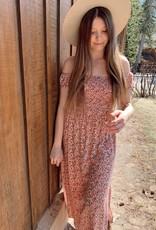 Sadie & Sage Sadie & Sage Dress 'Dizzy' Cap Slv w/ Smocked Waist Midi