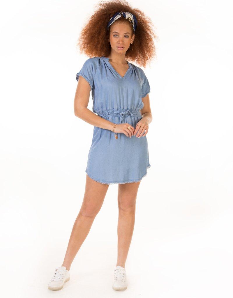 DEX Dex Dress Aspen S/Slv Mini w/ Frayed Hem