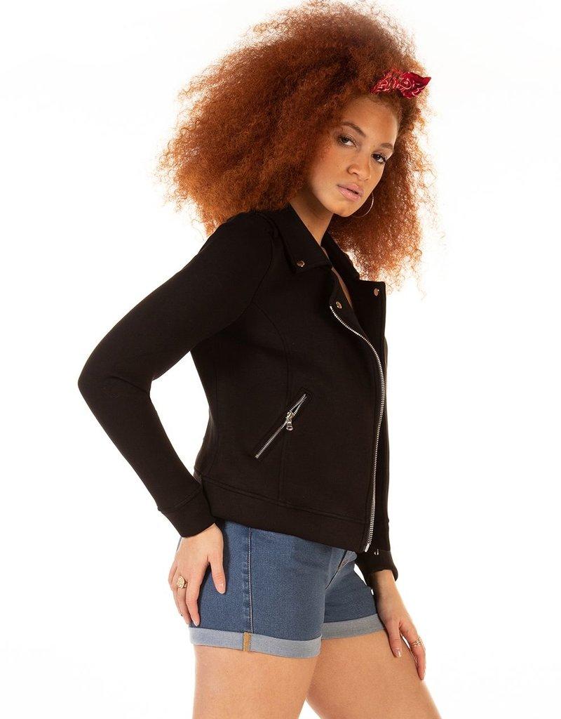 DEX Dex Jacket Kinsley L/Slv Stretch Knit Moto