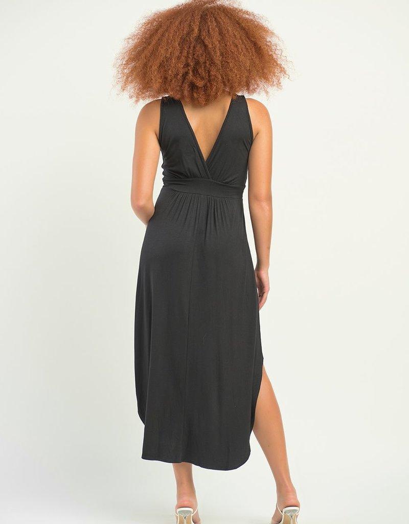 DEX Dex Dress Delilah Slv/Less Midi w/ Hi-Low Hem