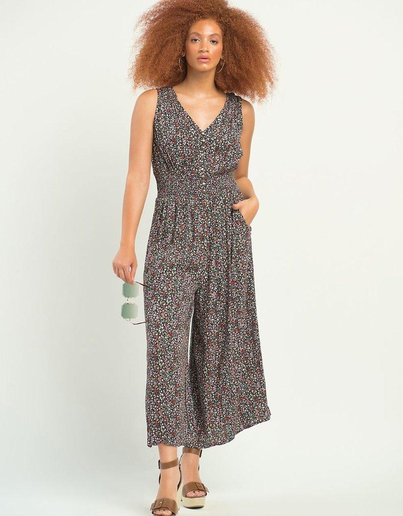 DEX Dex Jumpsuit Aurora Slv/Less w/ Smocked Waist