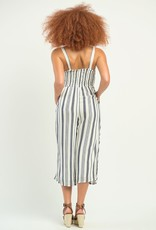 DEX Dex Jumpsuit Cassidy Striped Faux Wrap