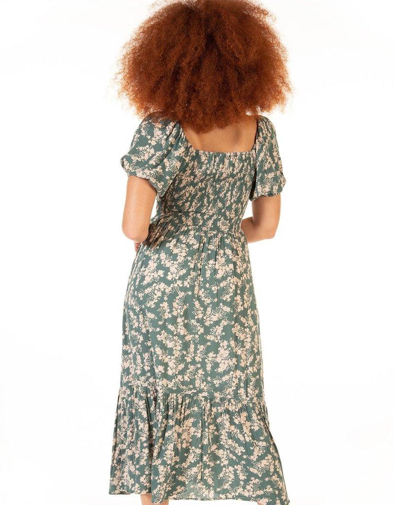 DEX Dex Dress Calliope S/S Maxi w/ Smocked Waist