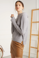 DÈLUC DÈLUC Hoodie Anne Light Knit w/ Ribbed Cuffs & Hem