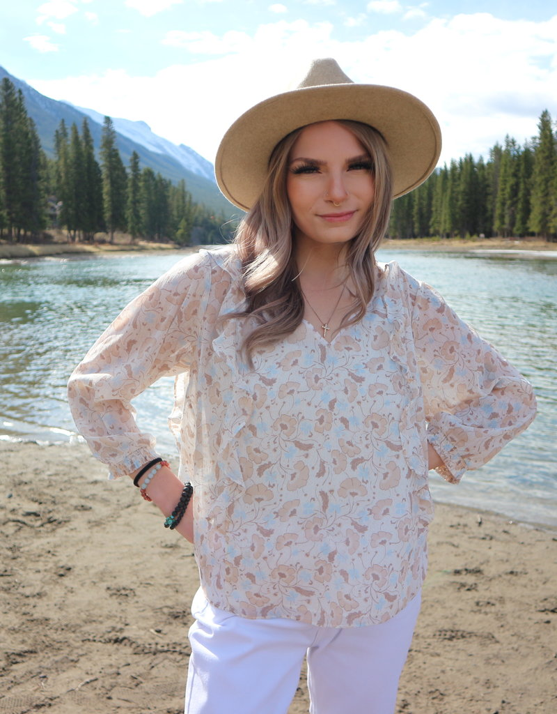 GENTLE FAWN Gentle Fawn Blouse The Maleah Floral L/SLv