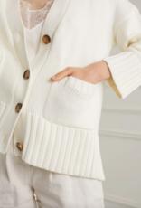 DÈLUC DÈLUC Cardi Daphne Chunky Knit w/ Pockets & Ribbed Details