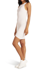 BB DAKOTA BB Dakota Dress Curve Warning Body Con w/ Ruched Sides
