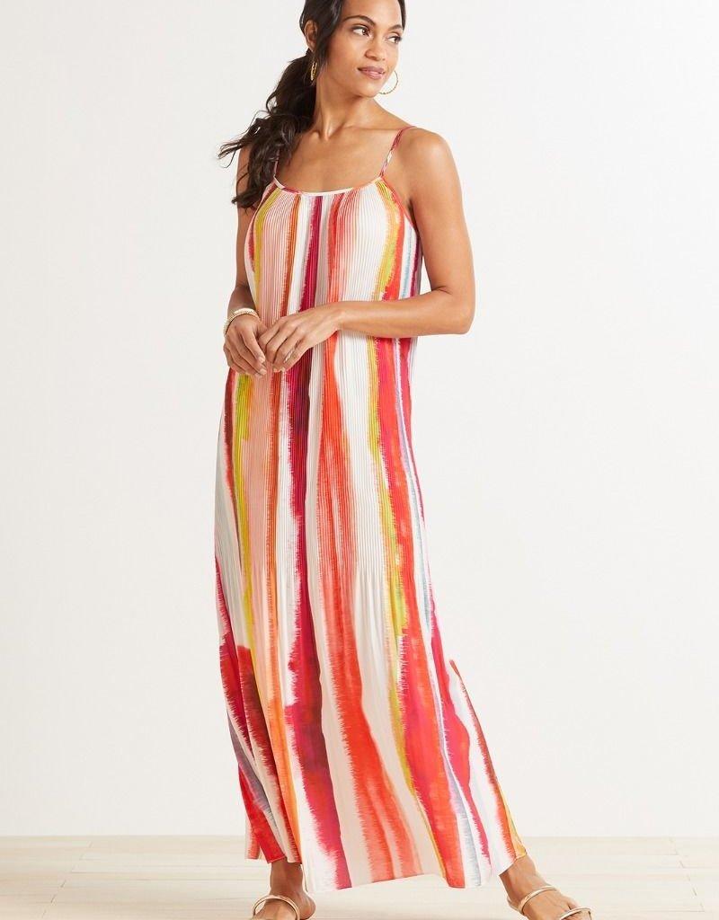 BB DAKOTA BB Dakota Dress Bon Voyage Pleated Strappy Maxi