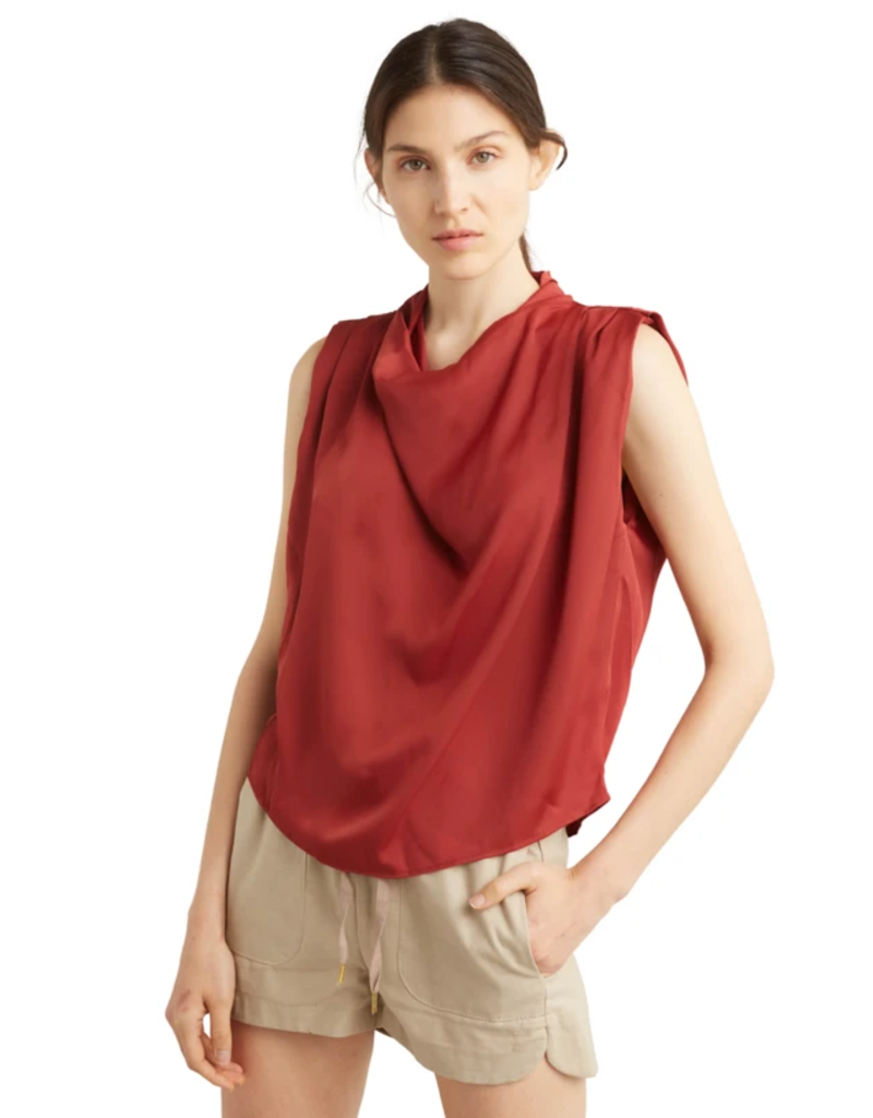 DÈLUC DÈLUC Shorts Brigitte Linen Blend Elastic Waist w/ Pockets