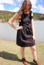 Molly Bracken Molly Bracken Dress Cheryl w/ Ruffle Detail & Tie Back Mini