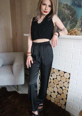 DÈLUC DÈLUC Trouser Camila Satin Straight Leg
