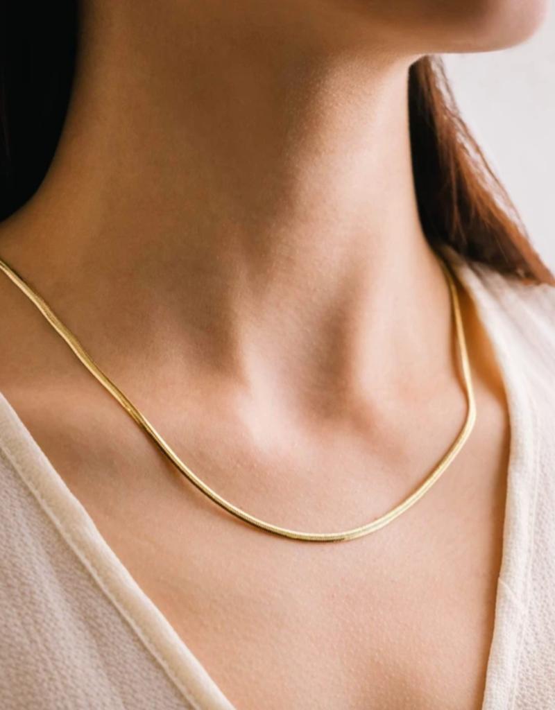 Lovers Tempo Lovers Tempo Herringbone Chain Necklace