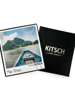 Kitsch Kitsch Necklace/Earring Box Set Make Waves Anchor