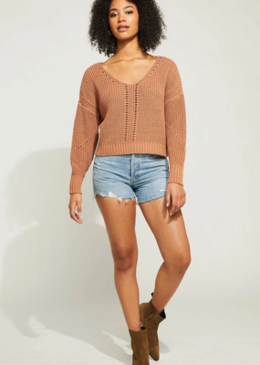 """GENTLE FAWN Gentle Fawn Pullover """"Arizona"""" Pointelle Detail"""
