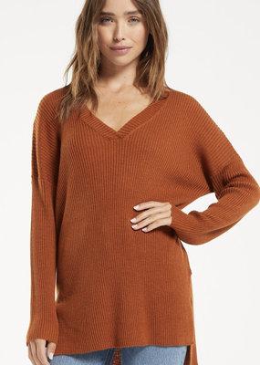 ZSUPPLY Z Supply Sweater Avalon Ribbed V-Neck