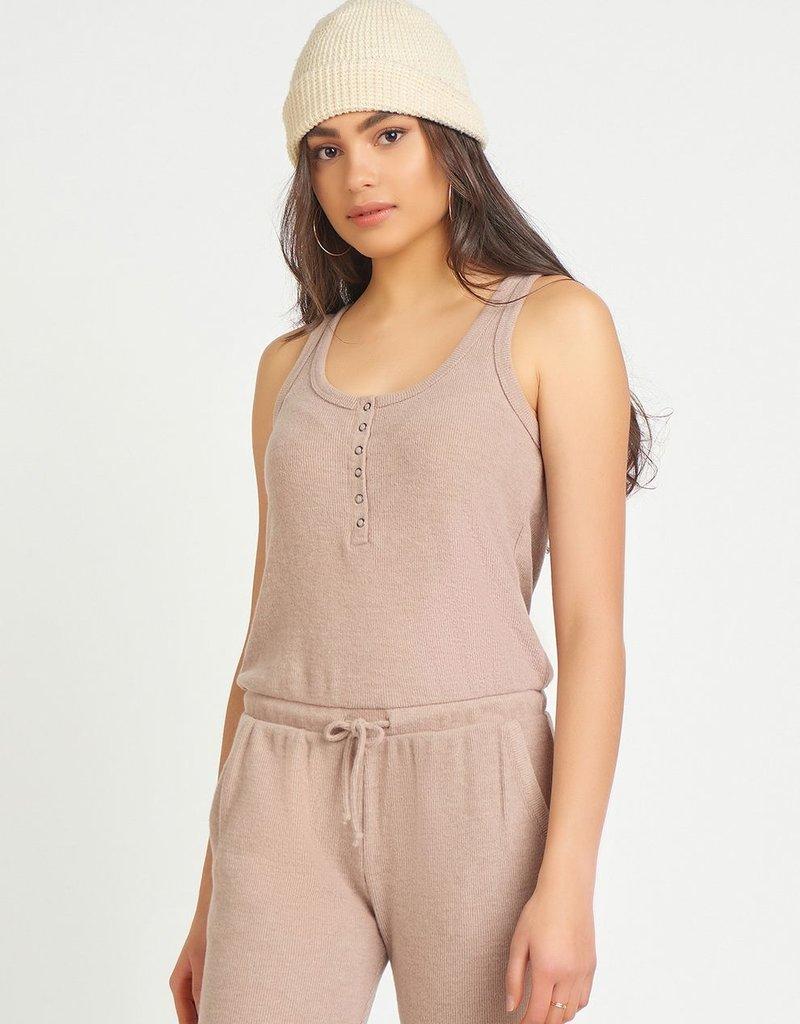 DEX Dex Jumpsuit Amber Snap Front