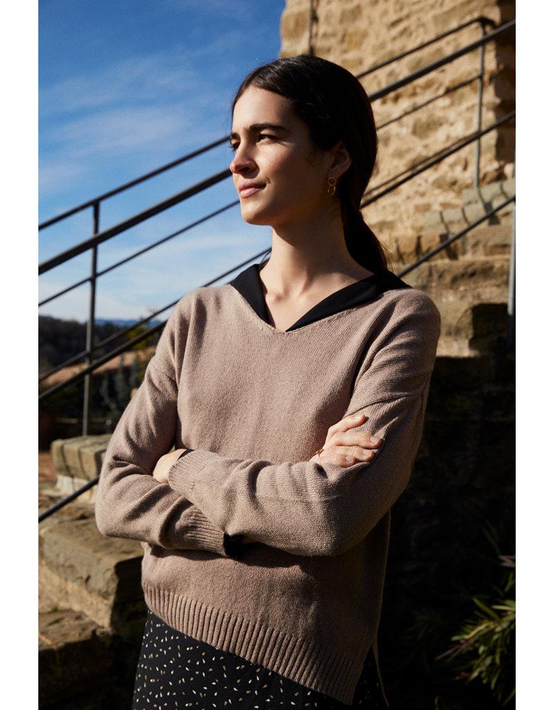 Mus & Bombon Mus & Bombon Bismo Sweater Knitted V-Neck