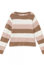 "Mus & Bombon Mus & Bombon ""Misqui"" Sweater Striped Cropped"