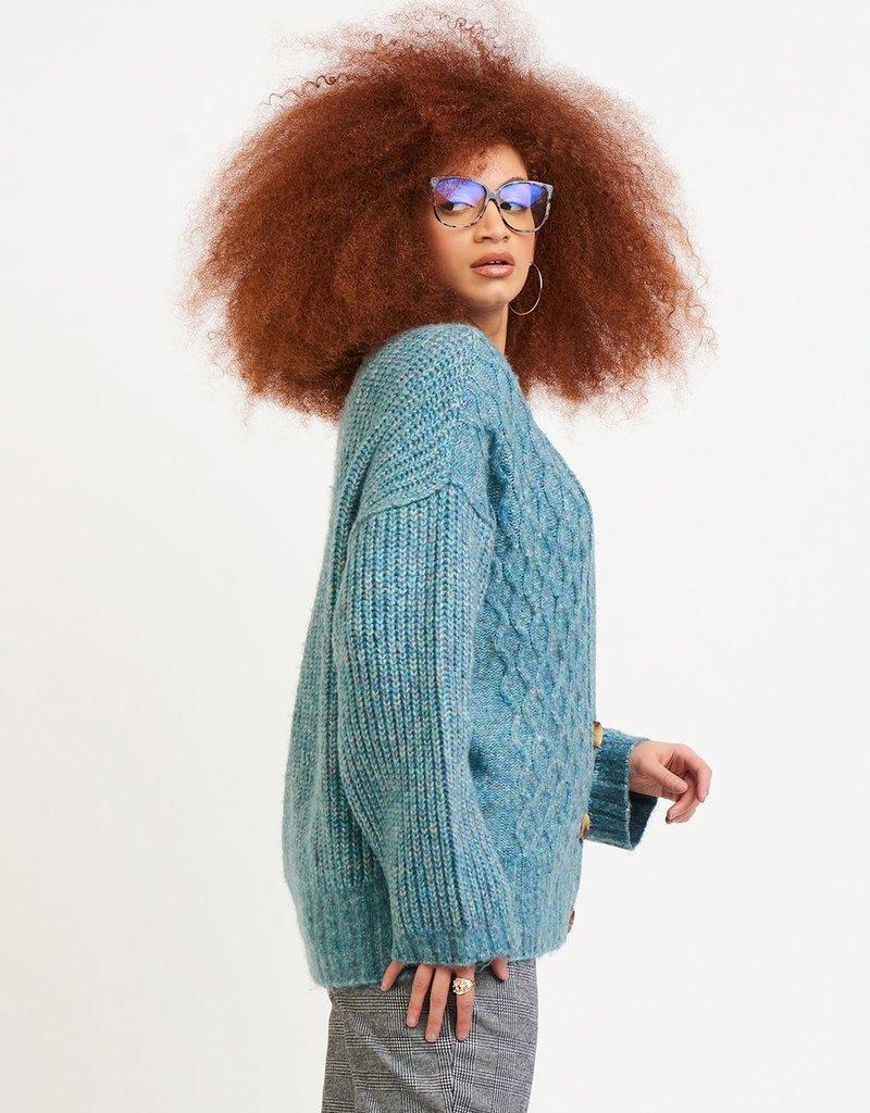 DEX Dex Olivia L/Slv Cable Knit Cardi