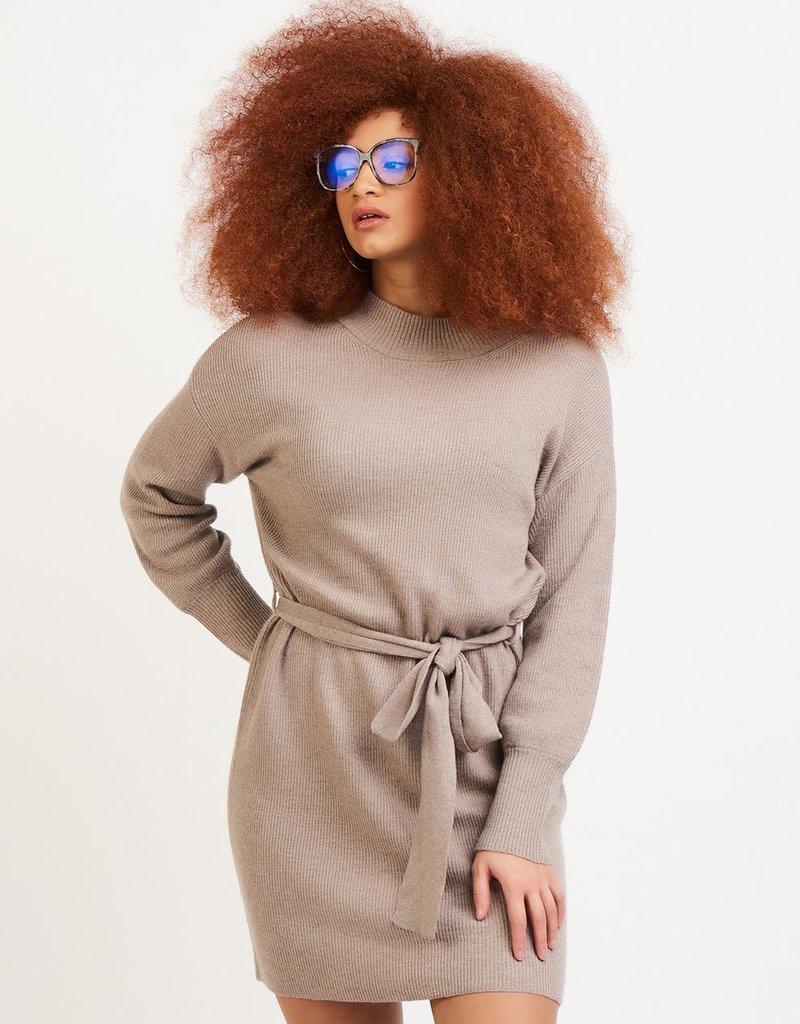 DEX Dex Sophia L/Slv Sweater Dress W/ Belt
