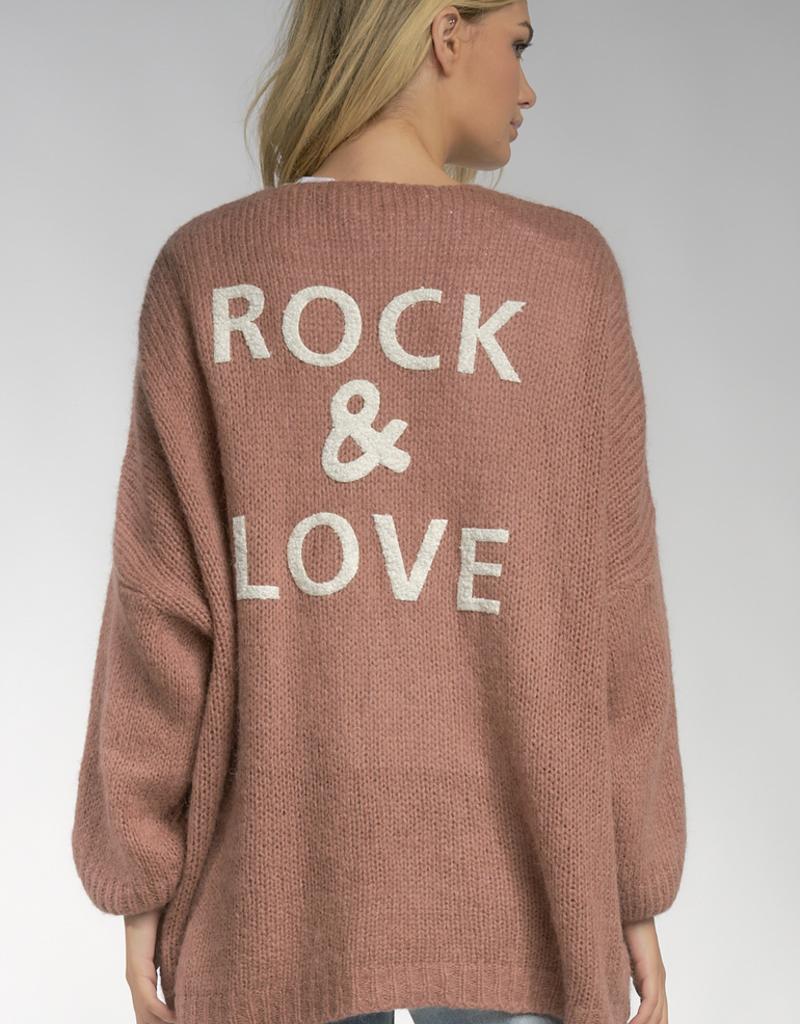 Elan Rock & Love Oversized Cardigan