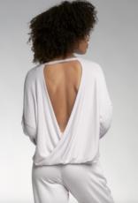 Elan Becca L/S Top Open Back Twist