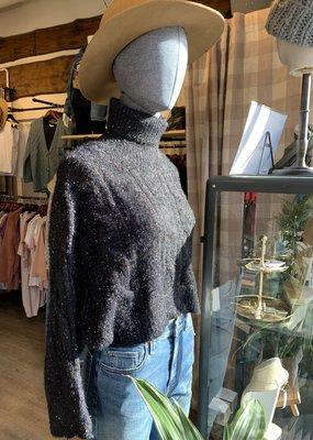 Molly Bracken Molly Bracken Sweater Effie Cropped Turtleneck