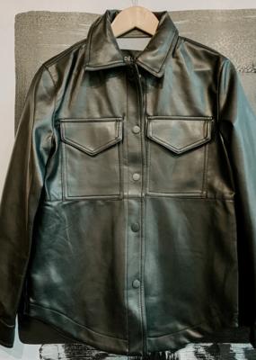 DÈLUC Deluc Shacket Dalia Faux Leather