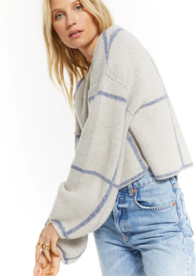 ZSUPPLY Z Supply Sweatshirt Solange Plaid