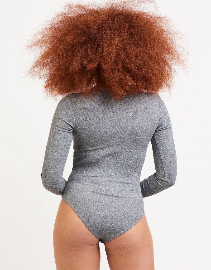 DEX Dex  Abbie L/Slv Ribbed Bodysuit