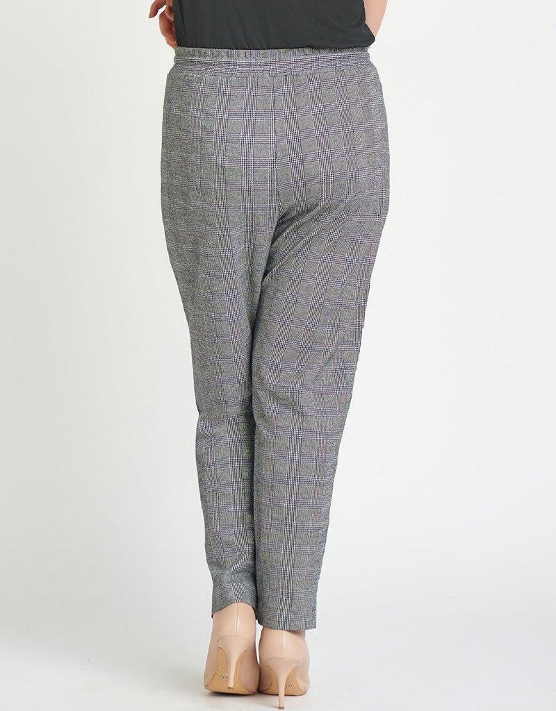 DEX Dex Tia Elastic Waist Plaid Trouser
