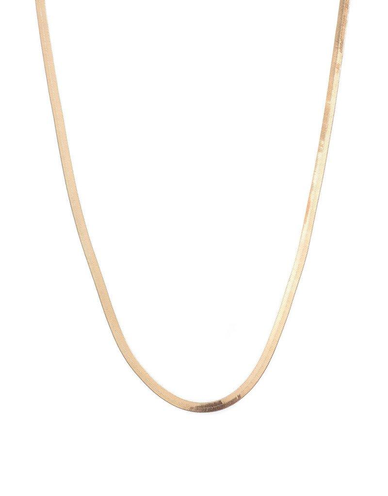 Lisbeth Snake Herringbone Necklace
