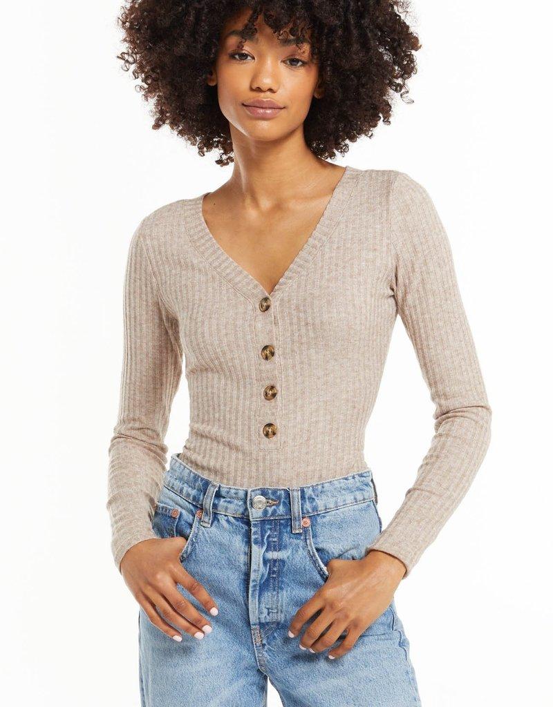 ZSUPPLY Z Supply Bodysuit Hannah Rib W/Buttons