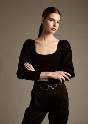 DÈLUC Deluc Sweater Tulip Off Shoulder L/Slv