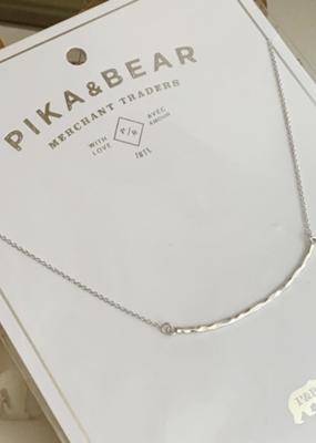 PIKA&BEAR Pika & Bear Alma Hammered Bar Charm Necklace