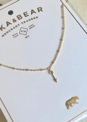 PIKA&BEAR Pika & Bear Bullseye Tiny Arrow Charm Necklace