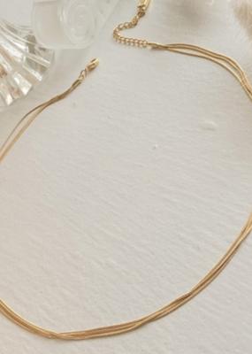 PIKA&BEAR Pika & Bear Ariadne Triple Layer Tiny Snake Chain Necklace