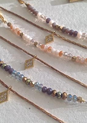 PIKA&BEAR Pika & Bear Diamond Dog Double Strand Gold Vermeil Necklace