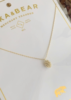 PIKA&BEAR Pika & Bear Fesen Pinecone Charm Necklace