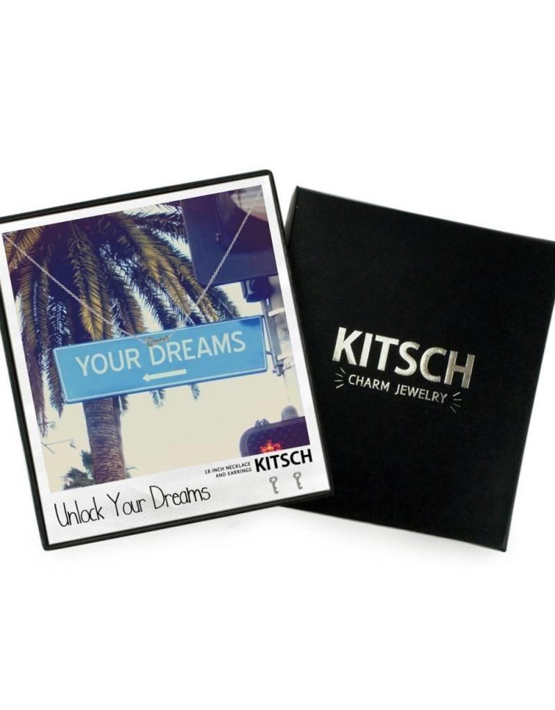 Kitsch Kitsch Necklace/Earring Box Set Unlock Your Dreams Key