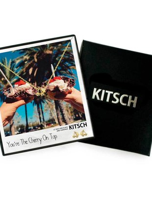 Kitsch Kitsch Necklace/Earring Box Set You're The Cherry On Top Cherry