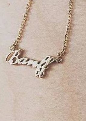 Fame Fame Necklace Banff Script
