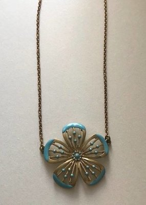 ORNAMENTAL THINGS Ornamental Things Aqua Flower Necklace