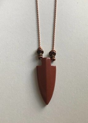 Amano Necklace Jasper Stone Arrowhead