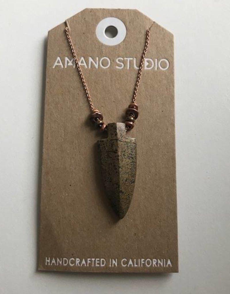 Amano Necklace Jasper Stone Arrowhead