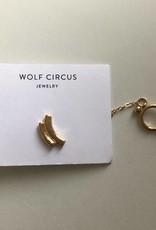 Wolf Circus Earrings Wavecuff Chain w/ Wave Stud
