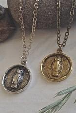 PIKA&BEAR Pika & Bear 'Wisdom' Owl Talisman Necklace